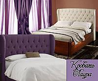 Кровать полуторная деревянная 140Х200 «Лаура» с ящиками, с подъемным механизмом белая из дерева