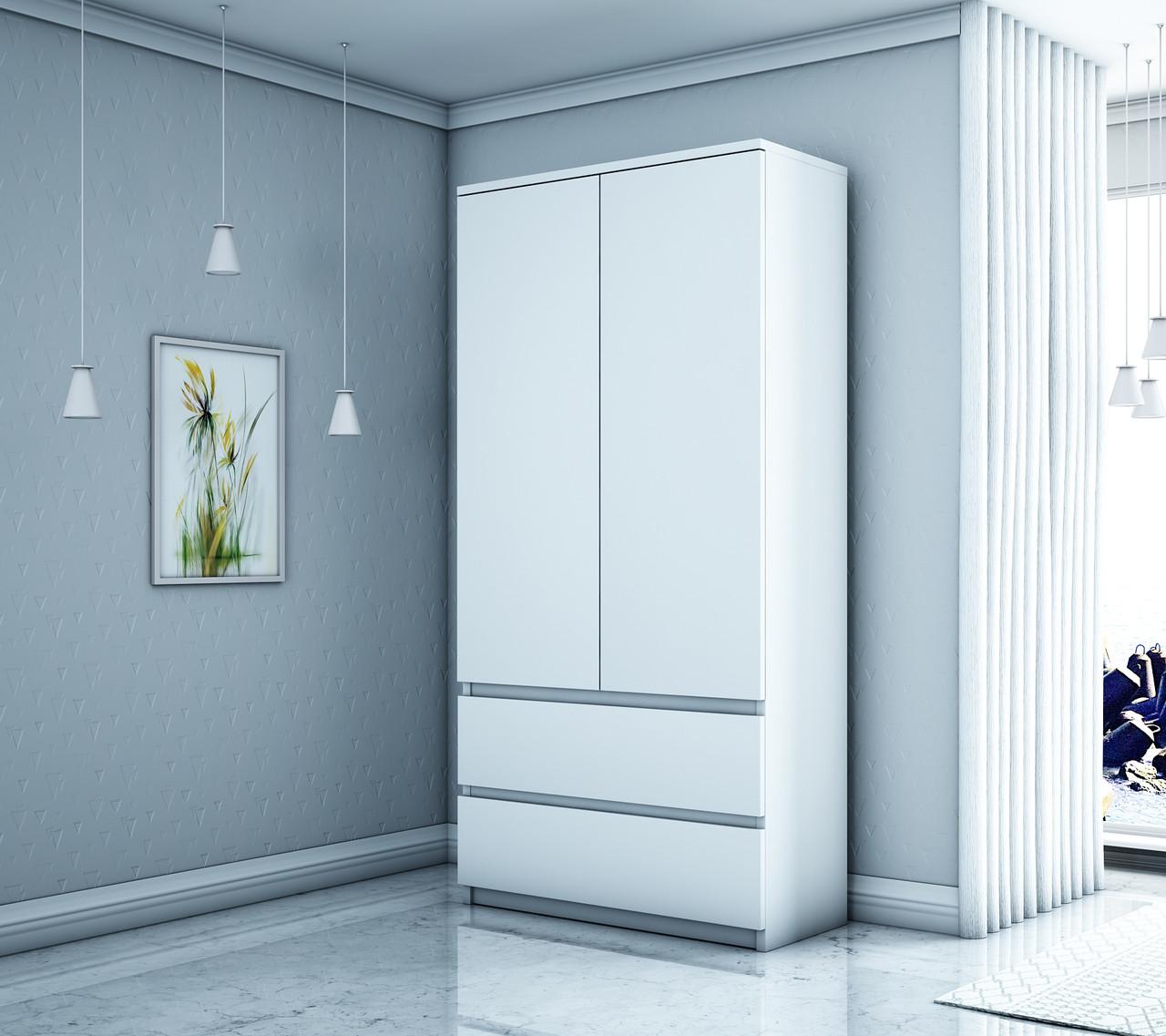 Шкаф гардеробный HAAG -Е 007 белый