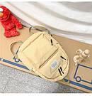 Рюкзак набор женский 3 в 1 ( клатч, пенал) жёлтый. (AV237), фото 6