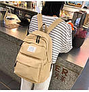 Рюкзак набор женский 3 в 1 ( клатч, пенал) жёлтый. (AV237), фото 9