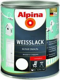 Эмаль алкидная Alpina Weisslack универсальная (глянцевая) 0,3 л Германия