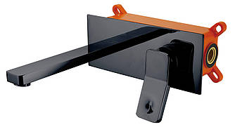 Смеситель для умывальника Unique 85501902 ASIGNATURA однорычажный встроенный черный