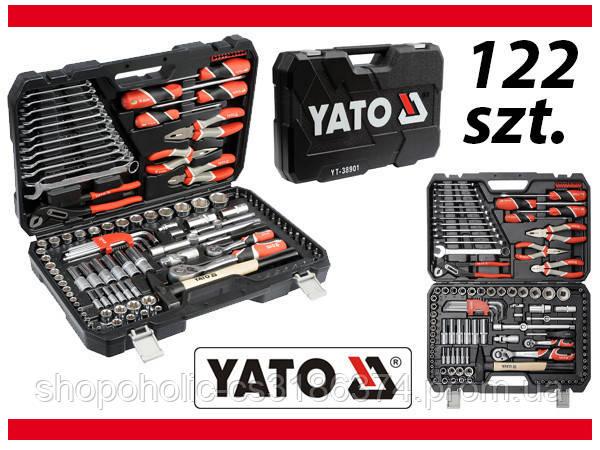 Набор головок ключей инструментов 122 шт Yato YT-38901 Польша