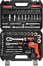 Набор головок ключей инструментов 100 предметов  Yato YT-12685 + Шуруповерт 3.6 В Польша, фото 5