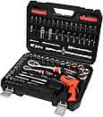 Набор головок ключей инструментов 100 предметов  Yato YT-12685 + Шуруповерт 3.6 В Польша, фото 6