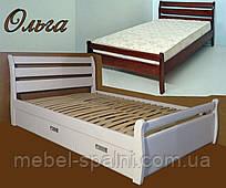Кровать односпальная деревянная 80Х200 «Ольга» с ящиками белая от производителя из дерева