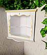 Домашний иконостас из массива натурального дерева от производителя (белая с патиной), фото 3