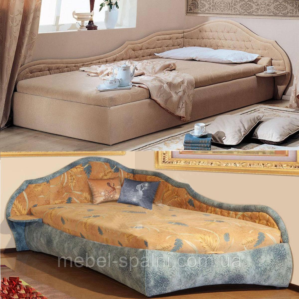 Ліжко односпальне дерев'яна 90Х200 «Вероніка» з ящиками біла від виробника з дерева