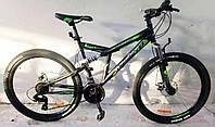 """Велосипед гірський двопідвісний Dinamic GFRD 26"""" чорно-зелений, фото 1"""