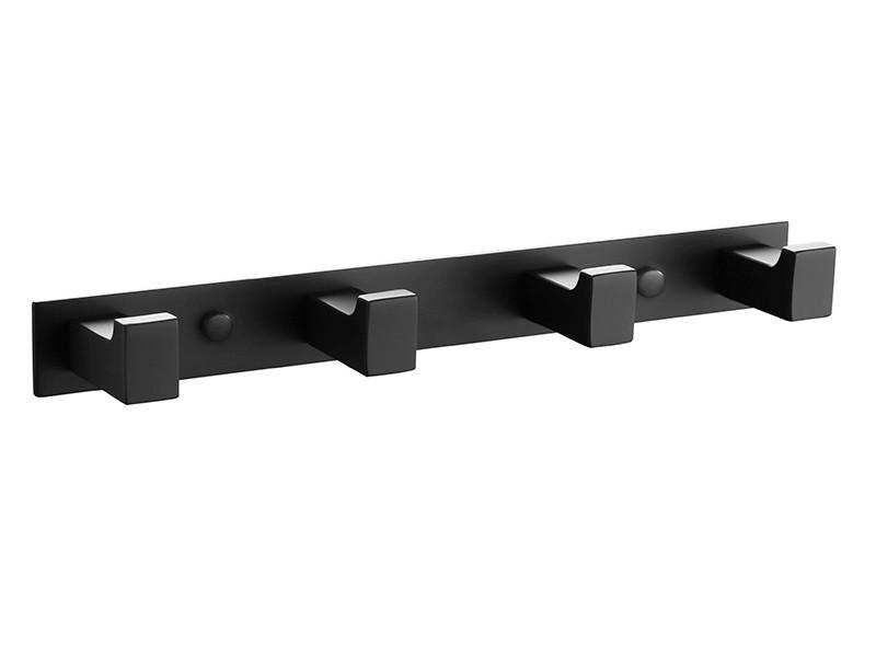 Планка с крючками Unique 85604802 ASIGNATURA, Планка для полотенец черная