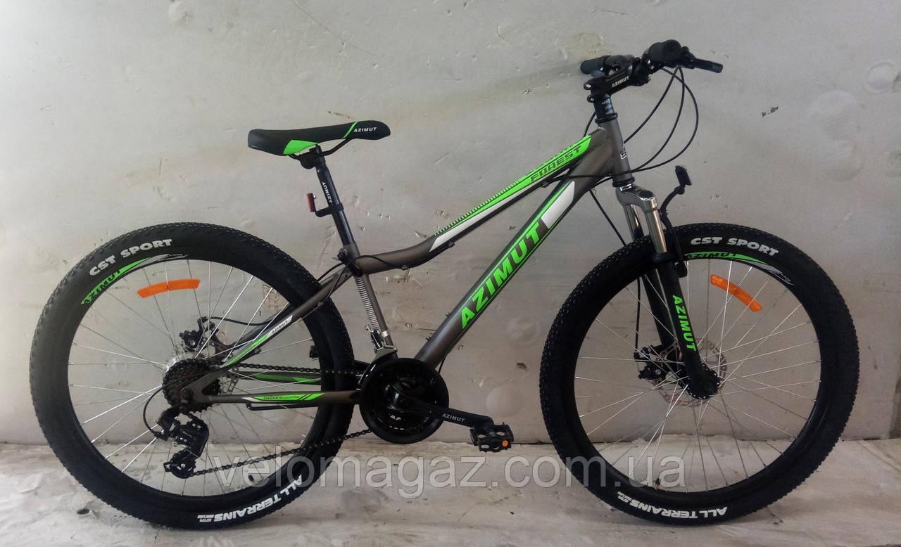 """Велосипед гірський AZIMUT """"Forest"""" 26 """"рама 13"""", сірий"""
