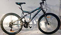 """Велосипед горный двухподвесный  Dinamic 26"""", рама 18,5"""",  FRD серо-синий, фото 1"""