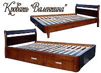 Кровать подростковая детская 80Х200 «Валентина» с ящиками белая из дерева от производителя