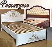 Кровать подростковая детская 80Х200 «Виктория» с ящиками белая из дерева от производителя