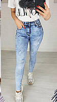 Классные весенние джинсы с потертостями