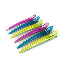Зажим для волос DenIS professional- s78 цветной прозрачный, фото 1