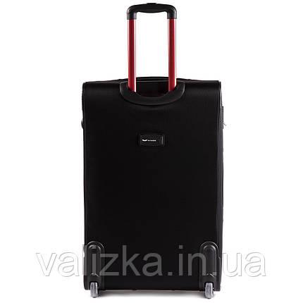 Текстильный чемодан большого размера на 2-х колесах Fly-214 черного цвета., фото 2