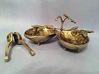 Двойная ваза с орехоколом из бронзы, фото 1