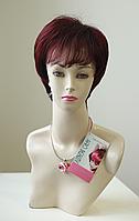 Парик женский стрижка короткая из искусственных волос, цвет бургунт