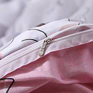 Комплект постельного белья Котенок и клубок (полуторный) серый, фото 5