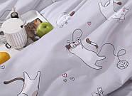 Комплект постельного белья Котенок и клубок (полуторный) серый, фото 6