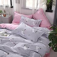Комплект постельного белья Котенок и клубок (полуторный) серый, фото 7
