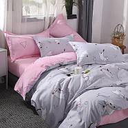 Комплект постельного белья Котенок и клубок (полуторный) серый, фото 8