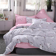 Комплект постельного белья Котенок и клубок (полуторный) серый, фото 9