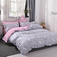 Комплект постельного белья Котенок и клубок (полуторный) серый, фото 10