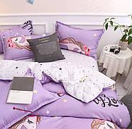 Полуторный комплект постельного белья My Love (сиреневый), фото 3