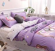 Полуторный комплект постельного белья My Love (сиреневый), фото 8