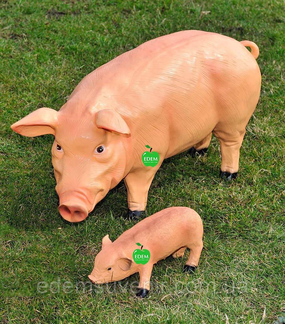 Садовая фигура Свинья большая и Хрюша