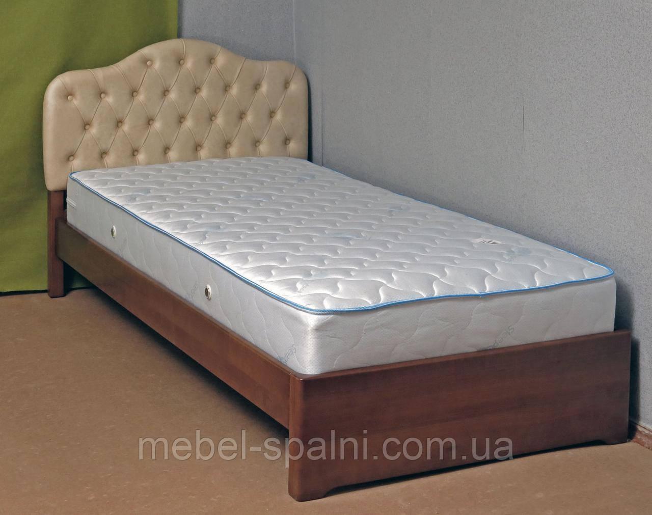 Ліжко односпальне дерев'яна 80х190 «Діана» з ящиками біла від виробника з дерева