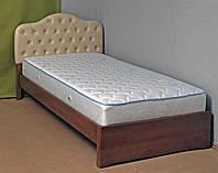 Ліжко односпальне дерев'яна 80х190 «Діана» з ящиками біла від виробника з дерева, фото 1