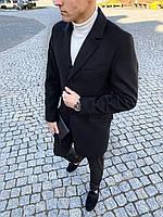 Пальто мужское кашемировое весеннее осеннее ЛЮКС качество / Coat x black