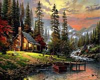 Картины по номерам 40×50 см. Охотничий домик Художник Томас Кинкейд