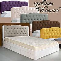 Кровать подростковая детская 80х190 «Амелия» с ящиками белая из дерева от производителя