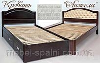 Кровать подростковая детская 80х190 «Анжела» с ящиками белая из дерева от производителя