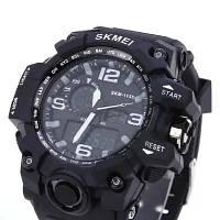 Мужские спортивные часы Skmei 1155B /Тактические /Водонепроницаемые/С подсветкой