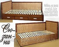Кровать подростковая детская 80х190 «Сюзанна» с ящиками белая из дерева от производителя