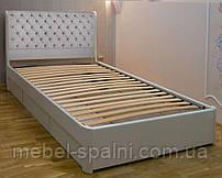 Кровать подростковая детская 80х190 «Шарлотта» с ящиками белая из дерева от производителя