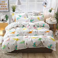 """Полуторный комплект постельного белья """"Мультяшные динозавры"""", фото 1"""
