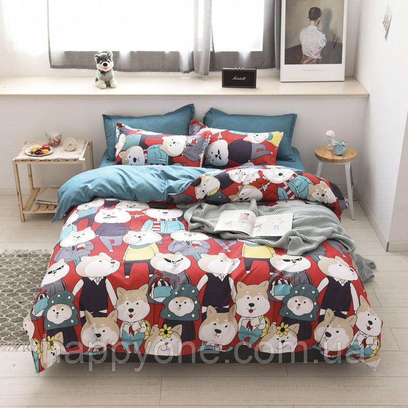 Полуторный комплект постельного белья Mr Shiba Inu
