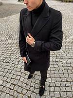 Пальто мужское двубортное весеннее осеннее ЛЮКС качество / President x black
