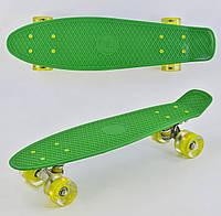 Пенні борд Best Board 4040, колеса PU світяться, салатовий