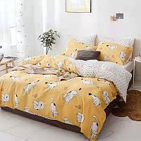 """Полуторный комплект постельного белья """"Играющий котенок"""" (хлопок), фото 1"""