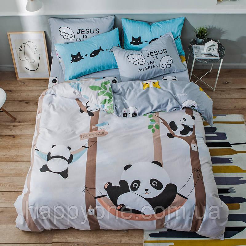 Полуторный комплект постельного белья Panda Park (хлопок)