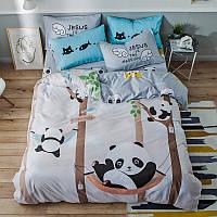 Полуторный комплект постельного белья Panda Park (хлопок), фото 1