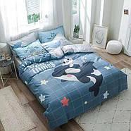 """Полуторный комплект постельного белья """"Дельфин и котенок"""" (хлопок), фото 2"""
