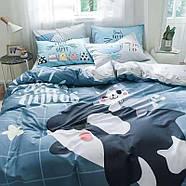 """Полуторный комплект постельного белья """"Дельфин и котенок"""" (хлопок), фото 3"""
